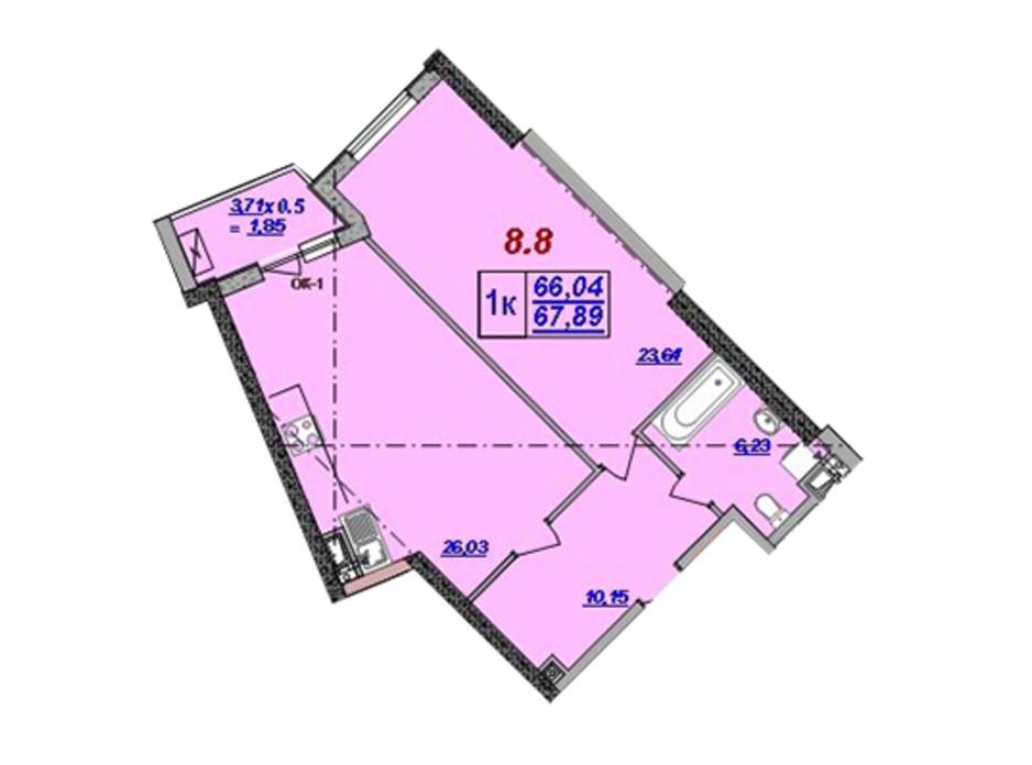 ЖК Милос планировка 44