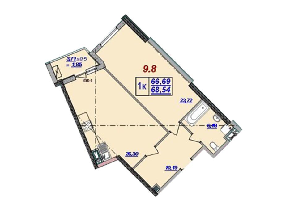 ЖК Мілос планування 56