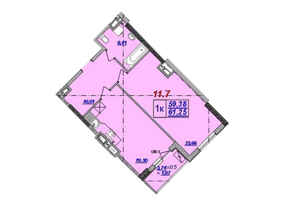 ЖК Милос планировка 43