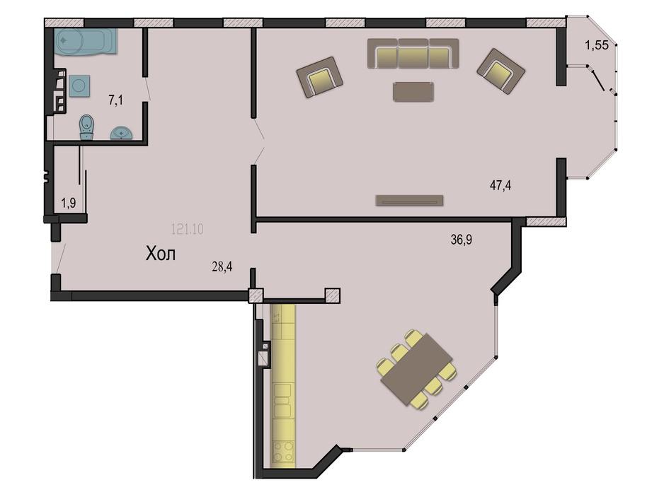 ЖК Премьер-Холл планировка 9