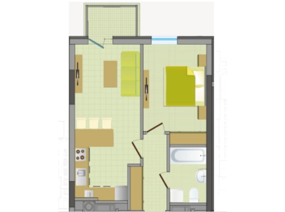 ЖК Greenville House планировка 13