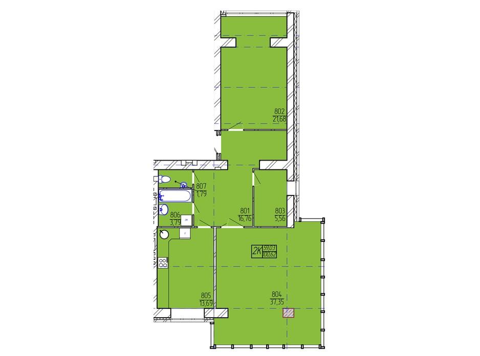ЖК Гармонія-2 планування 18