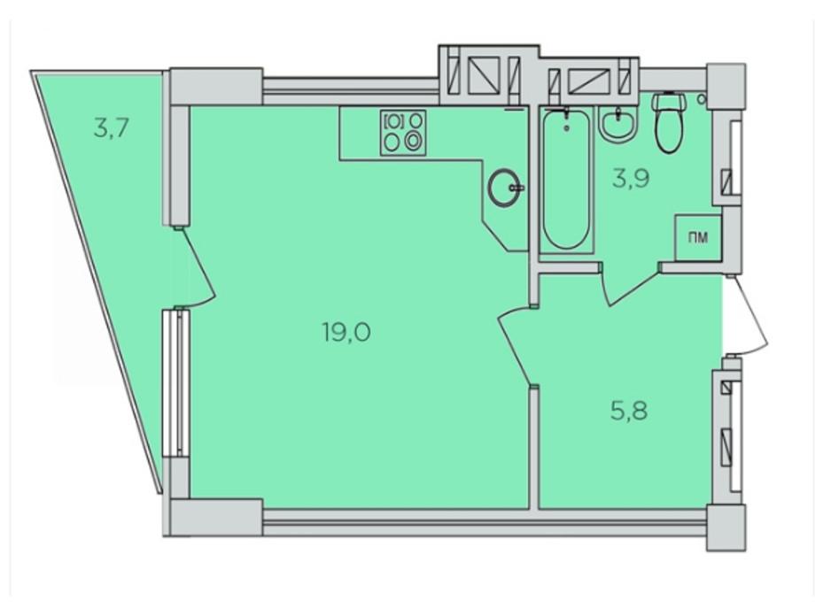 ЖК 360 планировка 13