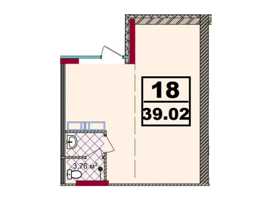 ЖК Акварель-2 планировка 43