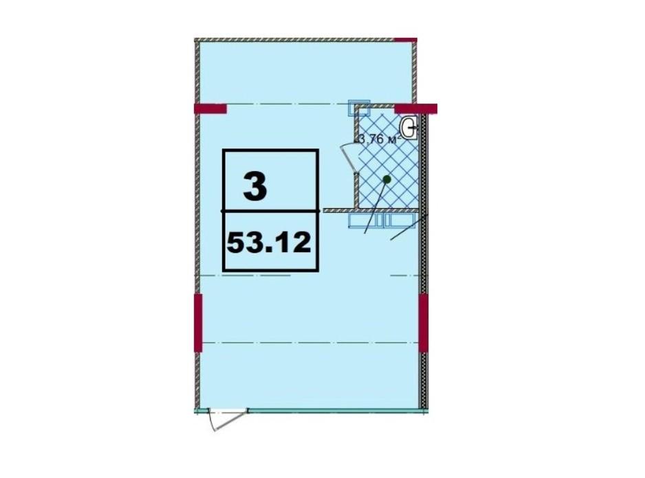ЖК Акварель-2 планировка 47