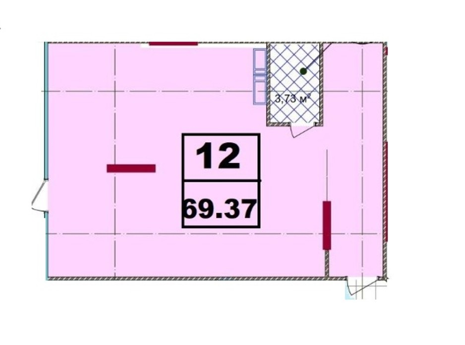 ЖК Акварель-2 планировка 53