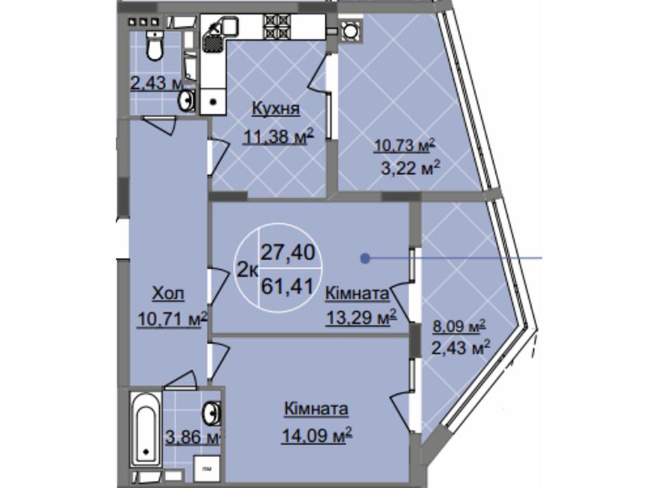 ЖК Imperial Park Avenue планировка 13
