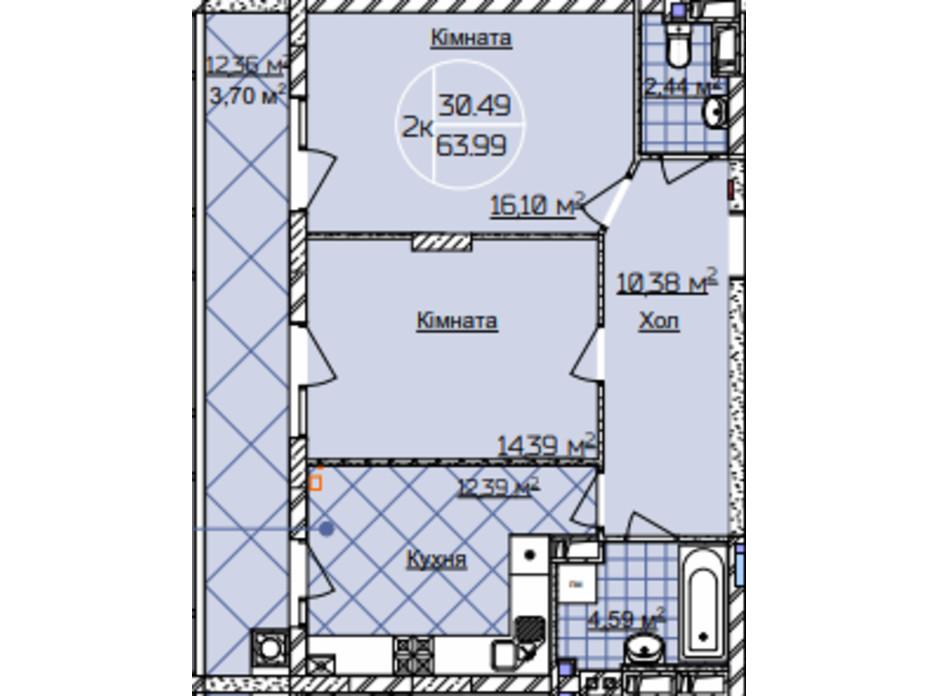 ЖК Imperial Park Avenue планировка 16