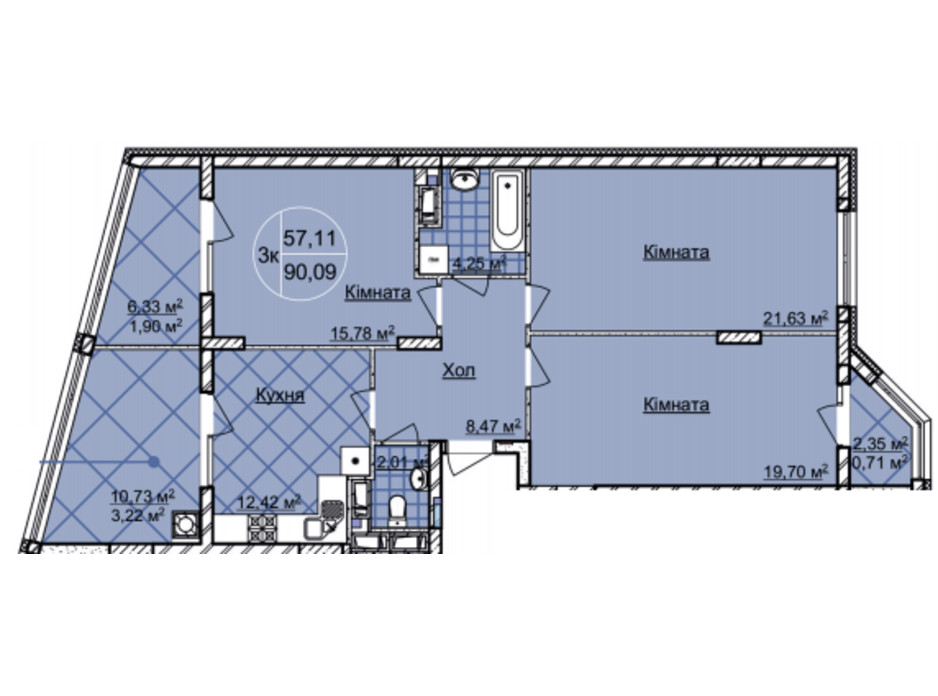 ЖК Imperial Park Avenue планировка 18