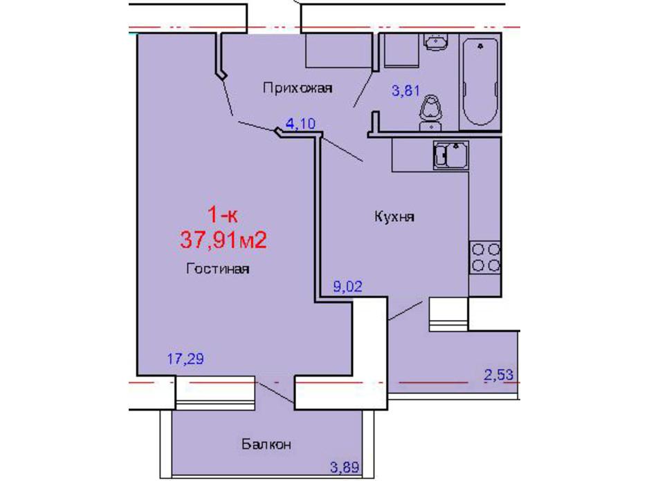 ЖК по вул. Сінна, 19 (1 корпус) планування 4