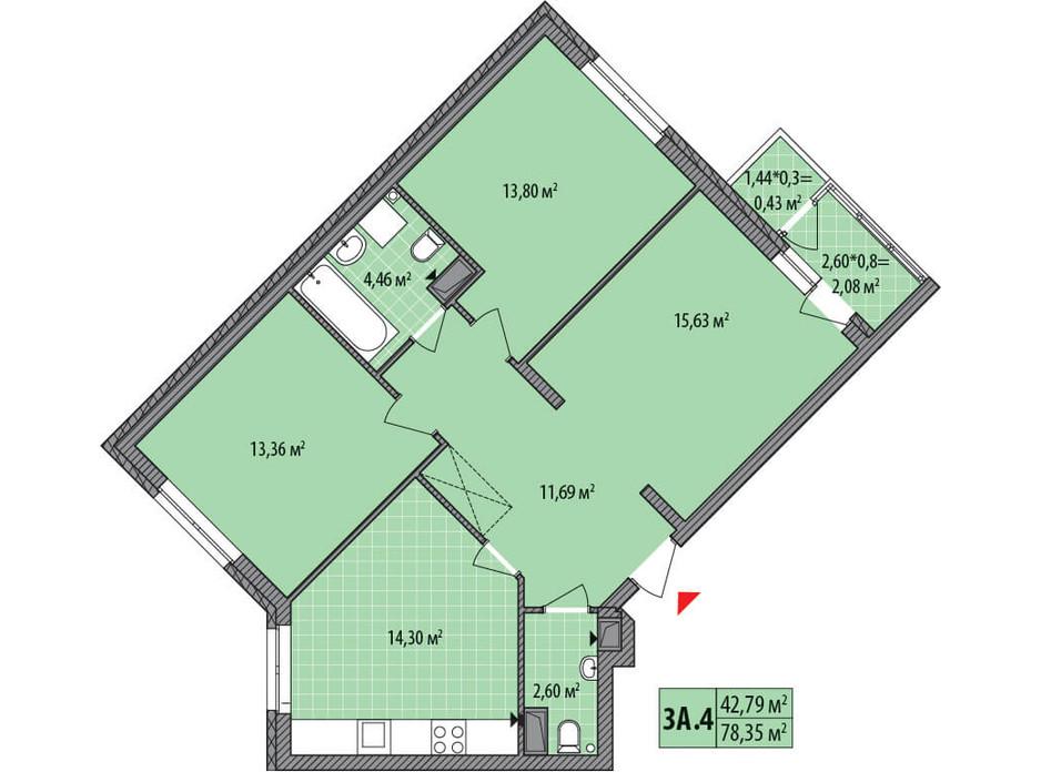 ЖК Сирецькі Сади планування 33