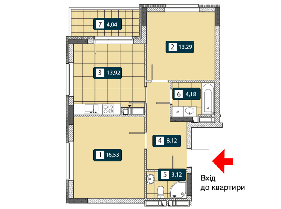 ЖК Нивки-Парк планировка 17
