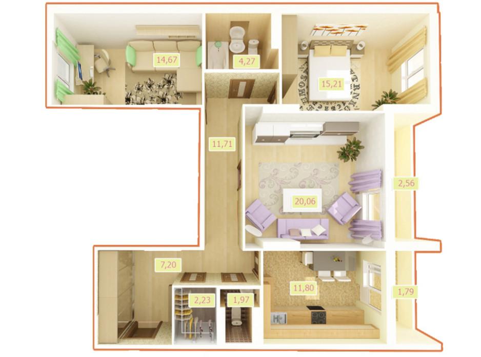 ЖК Palladium планировка 24