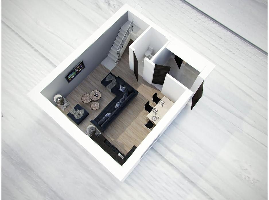 Планировка 3-комнатной квартиры в Таунхаус Вишневый 75 м², фото 85438