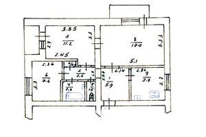 Продается 3-комнатная квартира 60 кв. м в Калиновке