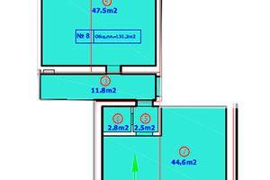 Продается офис 107.7 кв. м в нежилом помещении в жилом доме