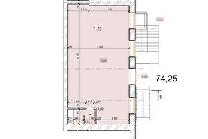 Продається офіс 74.75 кв. м в нежитловому приміщені в житловому будинку