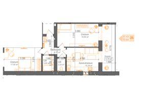 Продается 2-комнатная квартира 70.64 кв. м в Ирпене