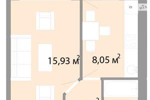 Продается 1-комнатная квартира 33.01 кв. м в Одессе