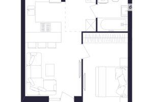 Продается 1-комнатная квартира 41.74 кв. м в Львове