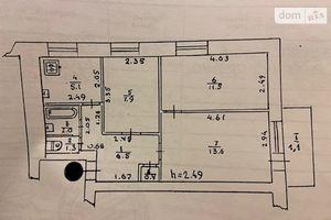 Продается 3-комнатная квартира 49 кв. м в Лубнах