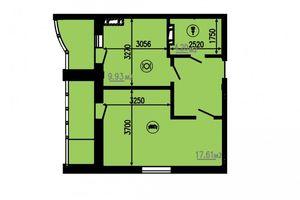 Продается 1-комнатная квартира 49 кв. м в Черкассах