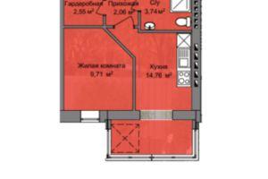 Продається 1-кімнатна квартира 32.85 кв. м у Дніпрі