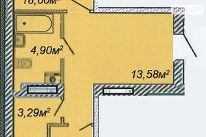 Продается 1-комнатная квартира 55.84 кв. м в Черкассах