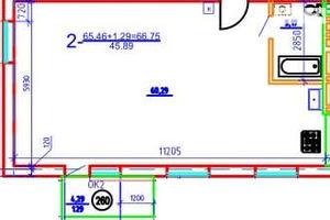 Продается 3-комнатная квартира 66.75 кв. м в Днепре