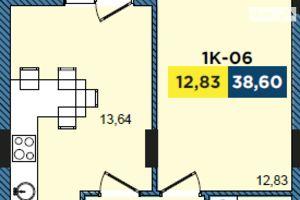Продается 1-комнатная квартира 38.2 кв. м в Львове