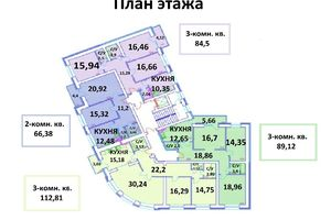 Продается 3-комнатная квартира 89.12 кв. м в Чернигове