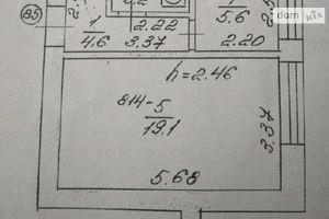 Продається 1-кімнатна квартира 32.8 кв. м у Луцьку