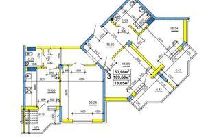 Продається 3-кімнатна квартира 109.19 кв. м у Черкасах