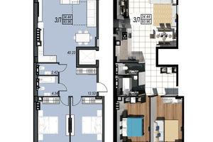 Продается 3-комнатная квартира 93.96 кв. м в Черноморске