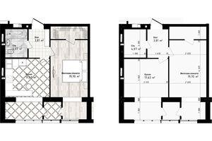 Продається 1-кімнатна квартира 45.21 кв. м у Одесі