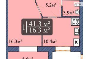 Продается 1-комнатная квартира 43.2 кв. м в Чернигове