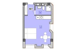 Продается 1-комнатная квартира 28 кв. м в Тернополе