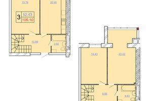 Продается 3-комнатная квартира 106.1 кв. м в Хмельницком