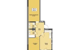 Продается 2-комнатная квартира 72.01 кв. м в Вышгороде