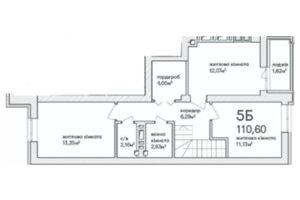 Продается 5-комнатная квартира 113.6 кв. м в Ирпене