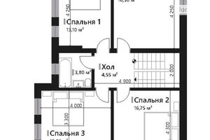 Продается дом на 3 этажа 157.45 кв. м с мансардой