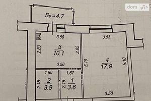 Продается 1-комнатная квартира 39.26 кв. м в Сумах
