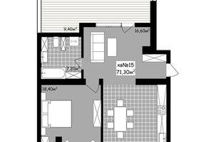 Продається 2-кімнатна квартира 71.3 кв. м у Чернівцях