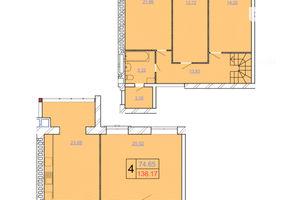 Продается 4-комнатная квартира 138.17 кв. м в Хмельницком