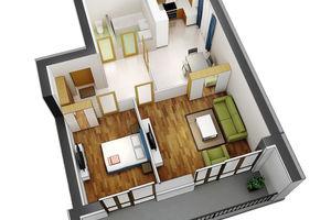 Продается 2-комнатная квартира 70.1 кв. м в Ирпене