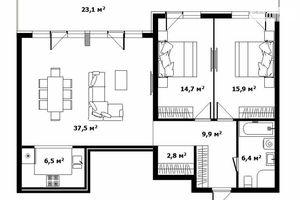 Продается 3-комнатная квартира 100.5 кв. м в Ужгороде