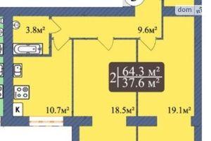 Продается 2-комнатная квартира 64.3 кв. м в Чернигове