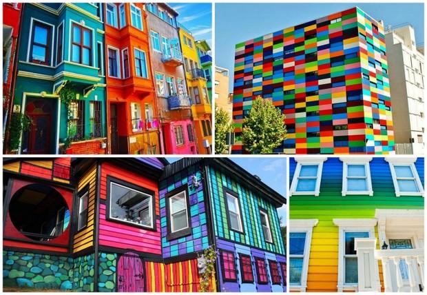 10 самых ярких разноцветных зданий мира
