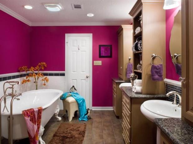 15 ярких интерьеров ванных комнат