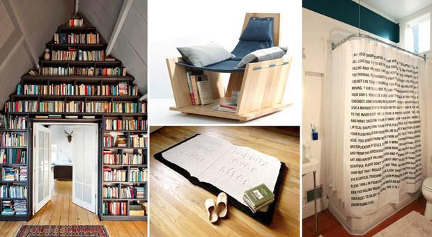 16 креативных вещей в интерьере, которые приведут в восторг книголюбов!